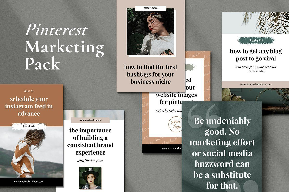 Pinterest Marketing Pack Photoshop In 2020 Marketing Graphics Blog Post Graphics Pinterest Marketing