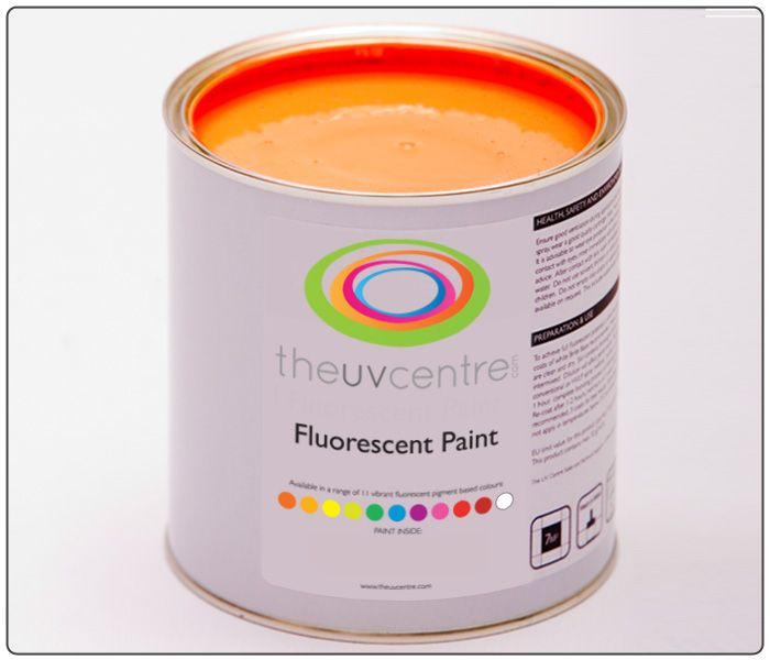 Orange Water Based Fluorescent Wall Paint Neon Wallpaint Bright Quirky