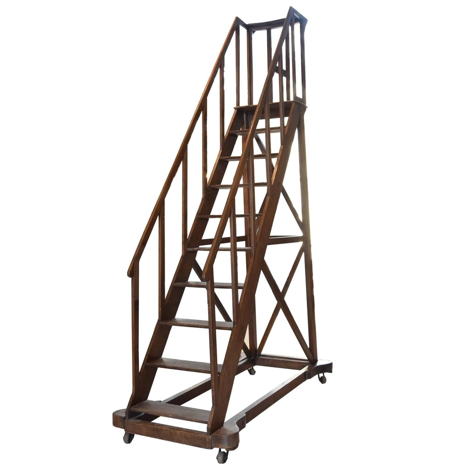 19th Century Library Ladder From A Unique Collection Of Antique And Modern Ladders At Https Www 1stdibs Com Furniture M Library Ladder Ladder Wooden Ladder