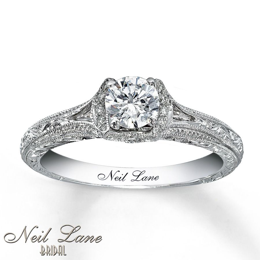 neil lane bridal ring 5/8 ct tw diamonds 14k white gold | gold