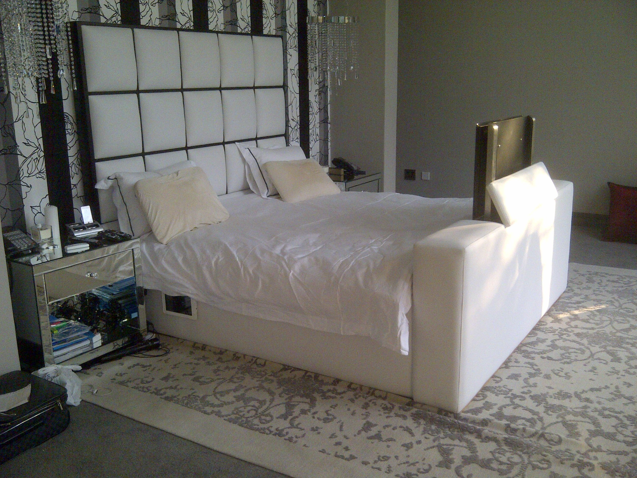 Another idea for the foot of your bed. Have the slim box