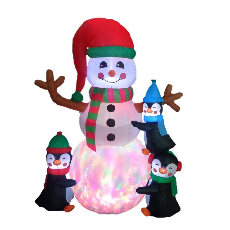 Christmas Inflatable Penguins Building Snowman (ad) Cute Christmas