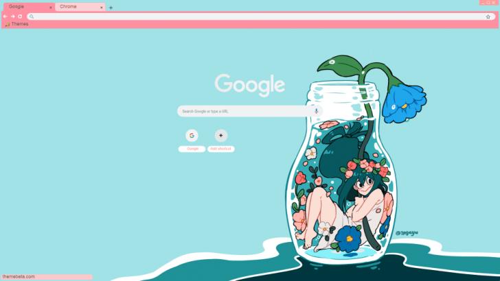 Tsuyu BNHA Chrome Theme ThemeBeta Anime chrome themes
