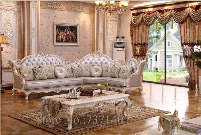 Antiguo sof de la esquina del barroco muebles de sala - Sofas antiguos de madera ...