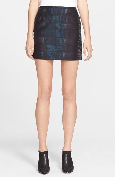 Cédric Charlier Print Satin Miniskirt available at #Nordstrom