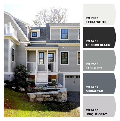 Paint Colors By Sherwin Williams Exterior Paint Colors For House House Paint Exterior Gray House Exterior