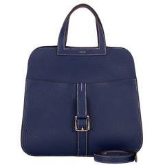 Hermes Blue Sapphire Clemence Halzan Bag
