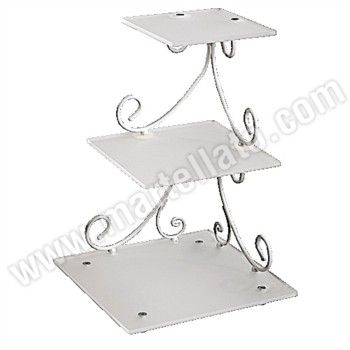 three tier square wedding cake stand 3 tiered square cake stands square 3 tier stand 20937