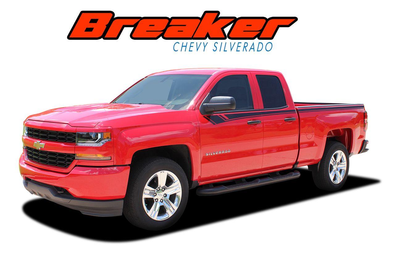 Chevy Silverado Special Edition Breaker Side - Chevy decals for trucksmore decalchevrolet silverado rally edition unveiled