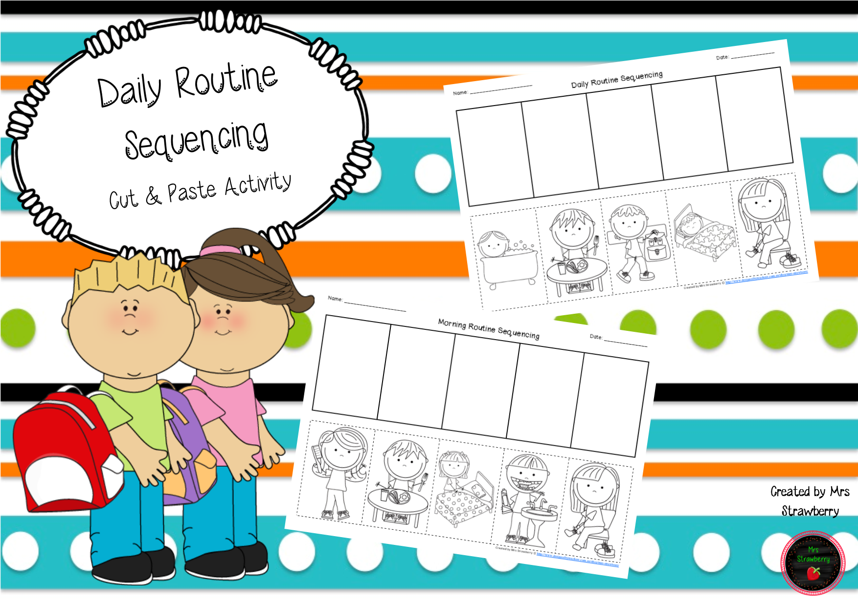 Daily Routine Sequencing Cut And Paste Activity Savvy Teachers Foundation
