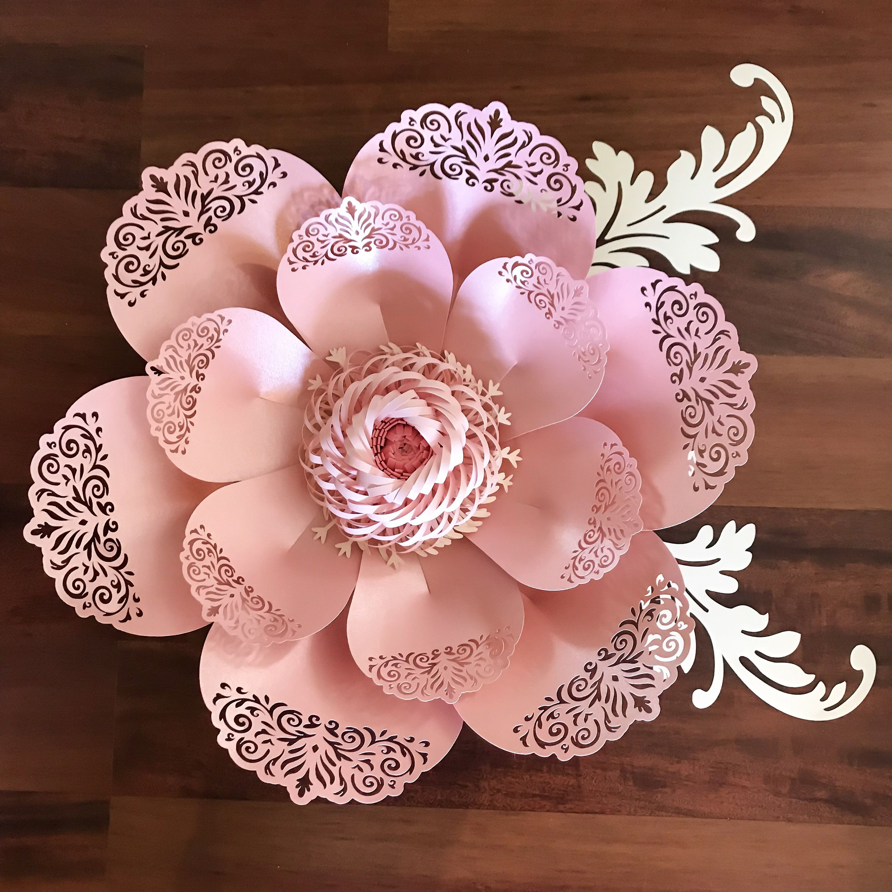 Svg lace paper flower template 8 for cutting machine to make diy paper flowers svg lace petal8 flower template fringe stripe fluffy center included original design cricut and silhouette ready by thecraftysagannie on mightylinksfo