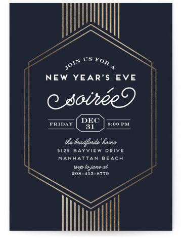 foil pressed party invitation by minted new years eve soiree party stationery