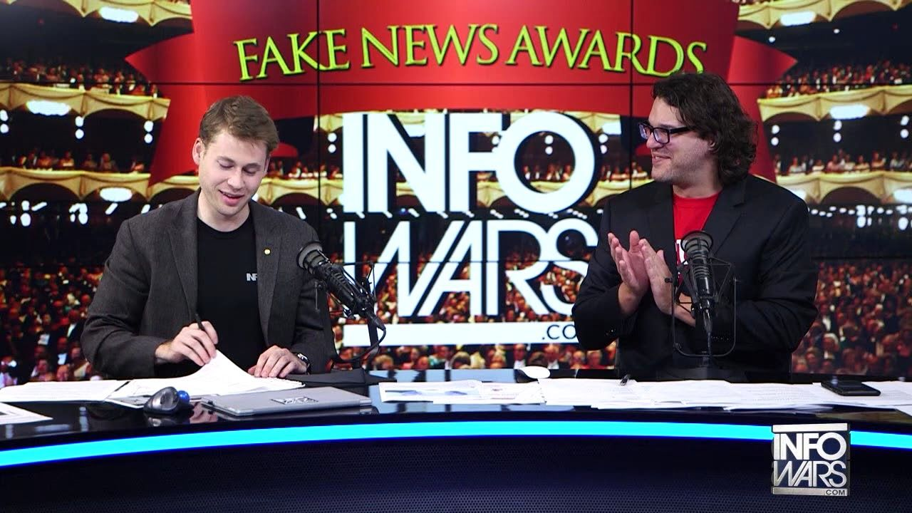 Infowars Took Cue From Trumps Tweet And Conducted First Annual Fake News.