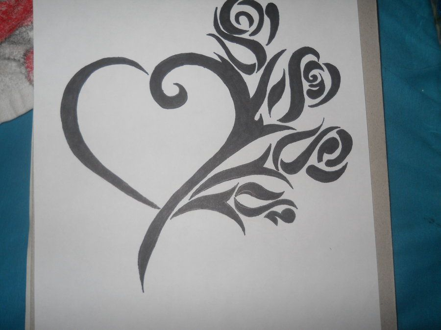 How To Draw Graffiti Hearts Graffiti rose .