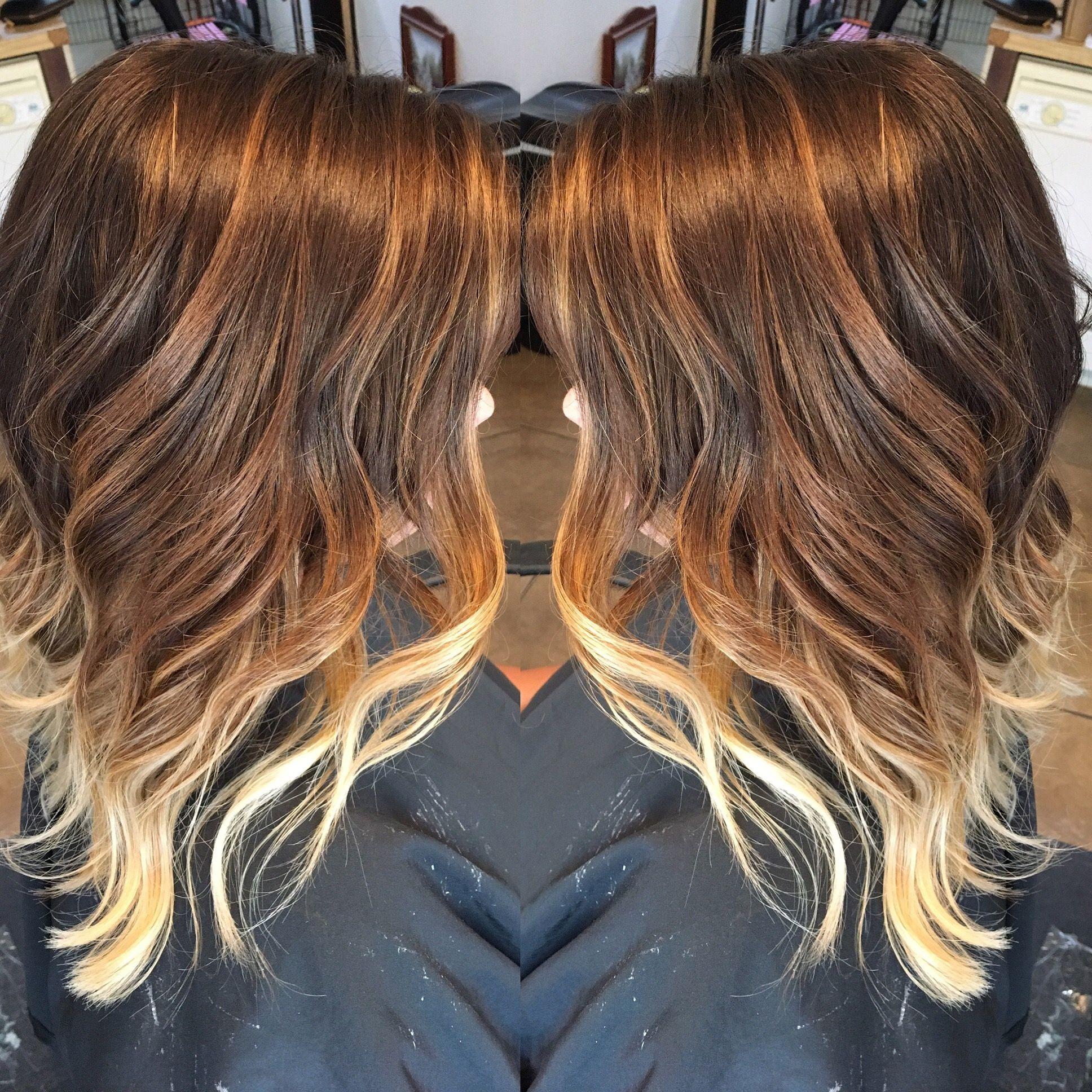 Chocolate Brown Level 5 To Level 9 Neutral Blonde Ombr With