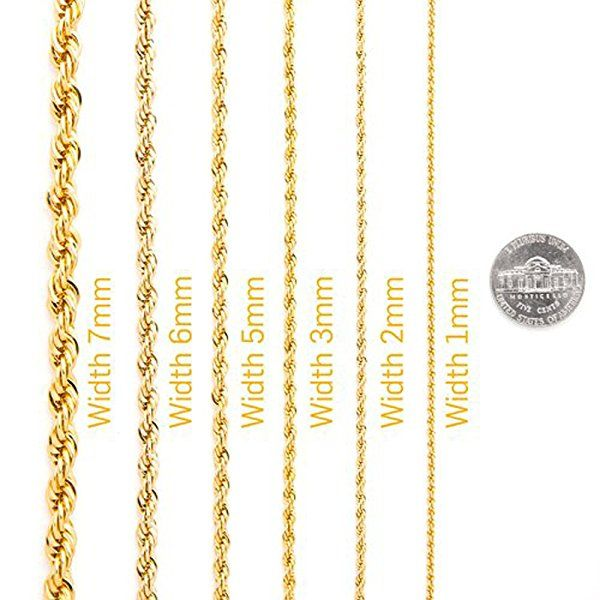 10k Solid White Gold Rope Chain 3mm 16 Brand New Nwt In 2020 Gold Rope Chains Rope Chain Womens Jewelry Necklace
