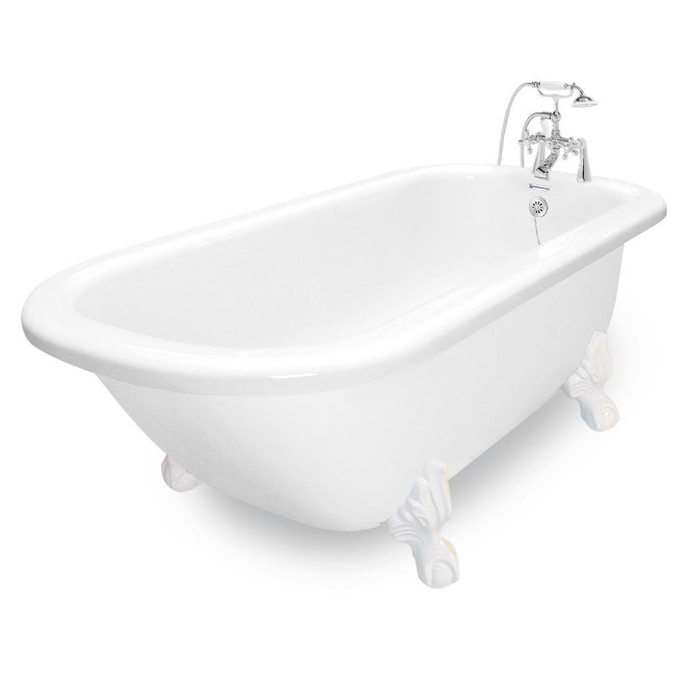 American Bath Factory 67 In Acrastone Acrylic Classic Clawfoot