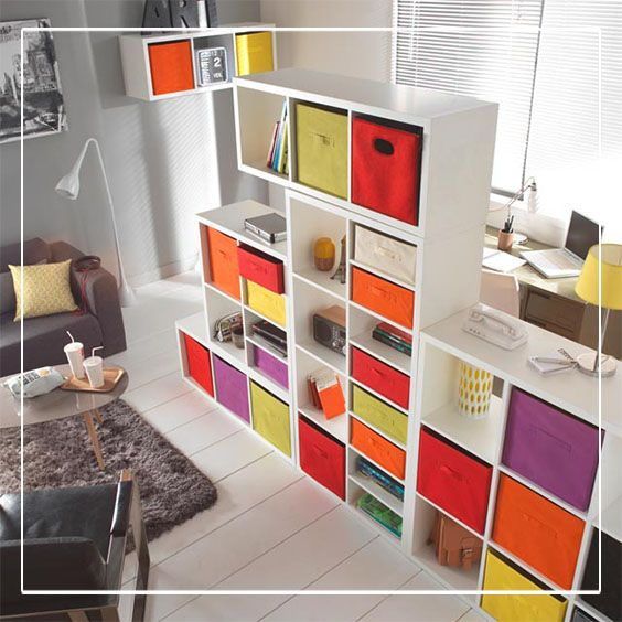 tag re modulable 9 cases coloris blanc mixxit tag res. Black Bedroom Furniture Sets. Home Design Ideas