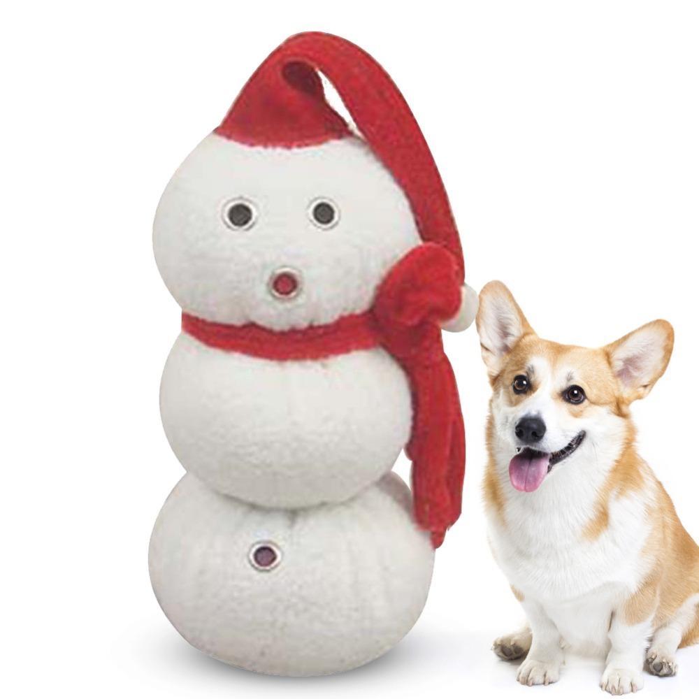 Christmas Dog Toys Snowman Shaped Sound Toys Dog Toys