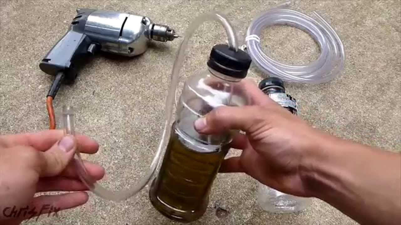 How to make a one person brake bleeder for under 5 car