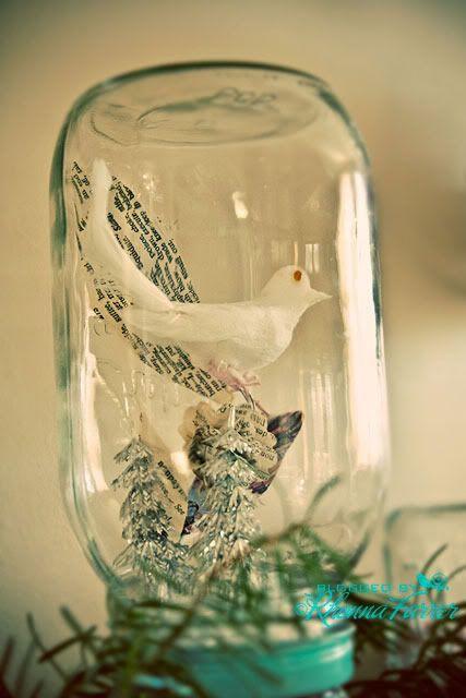Rhonna DESIGNS: DIY Christmas No. 2 :: Snow Scene Jar Tutorial