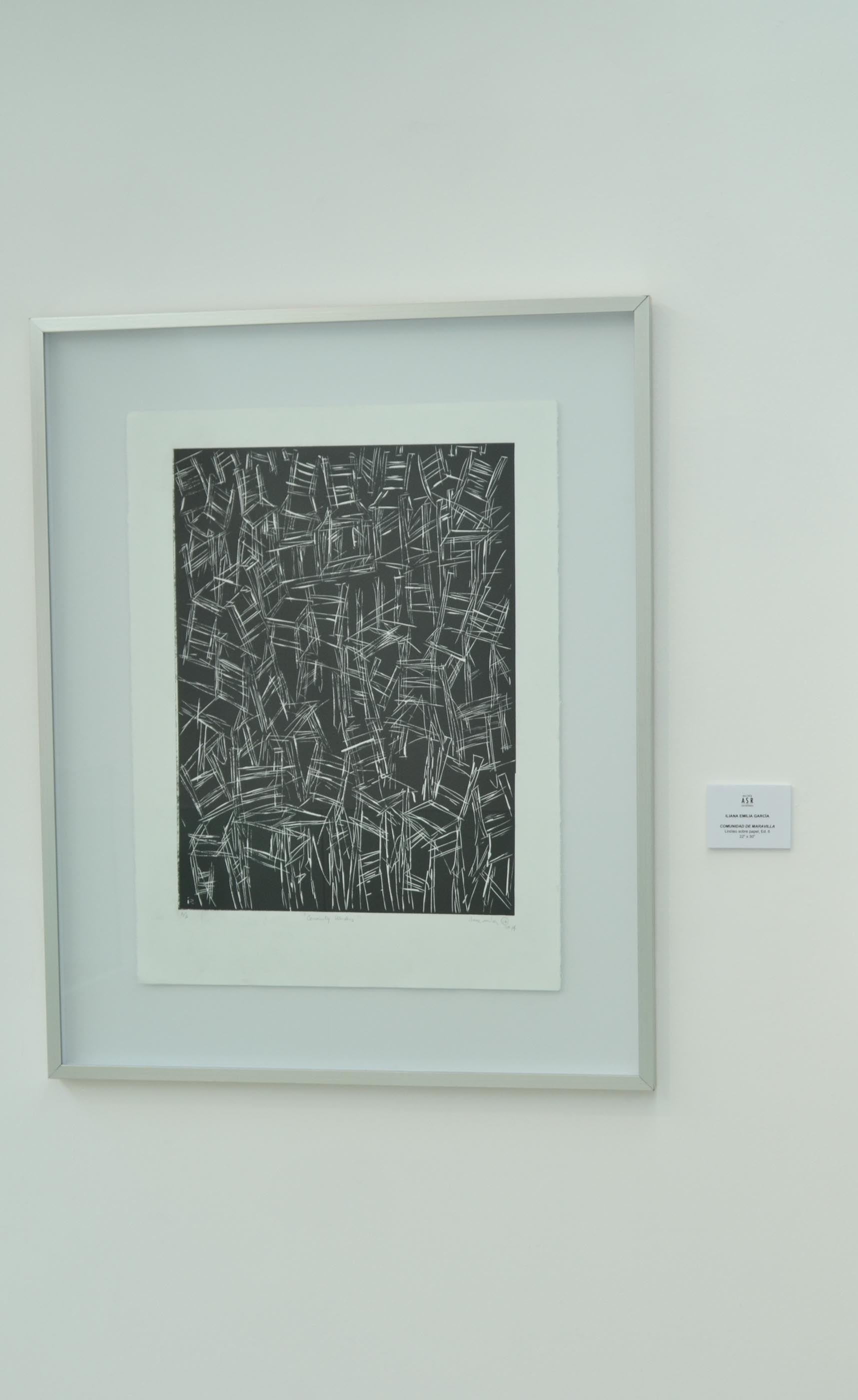 """""""Comunidad Maravilla"""" by Iliana Emilia García 22"""" x 30"""" Linóleo"""