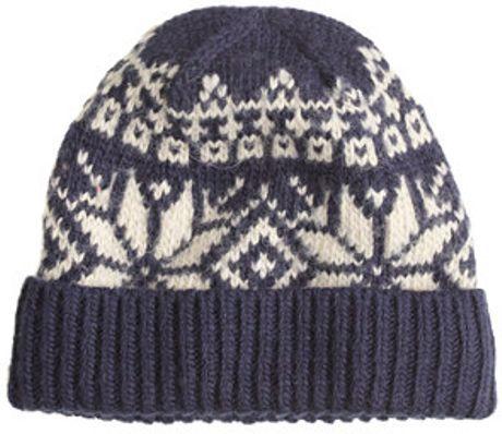 blue and white fair isle hat  76ec229b5de