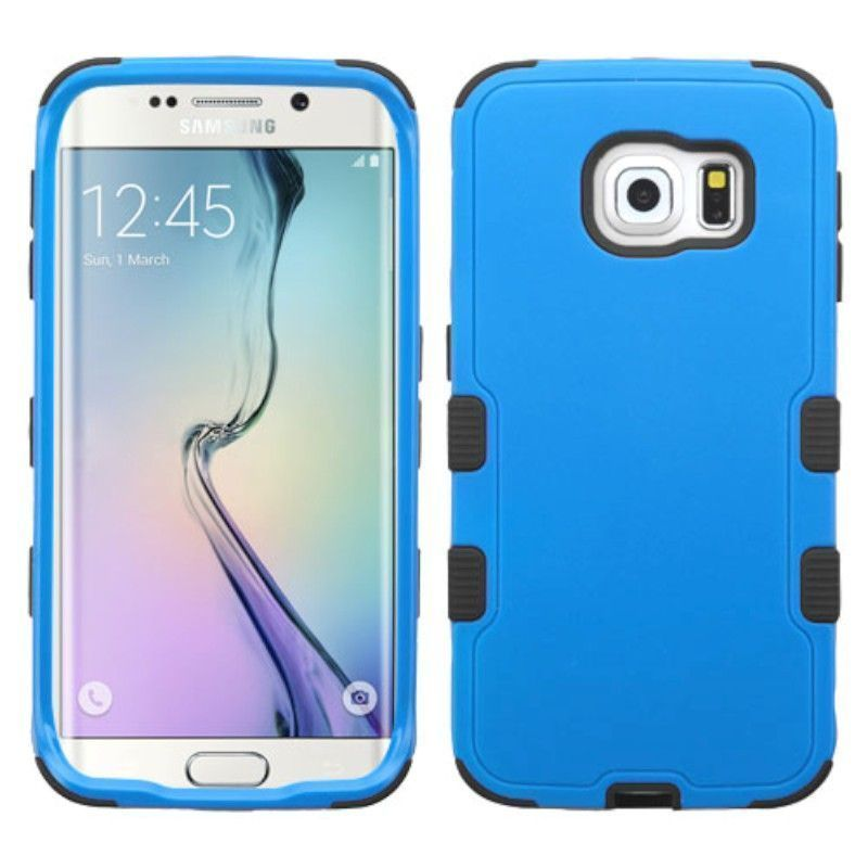 Insten Hard PC/ Silicone Dual Layer Hybrid Rubberized Matte Phone Case Cover For Samsung Galaxy S6 Edge