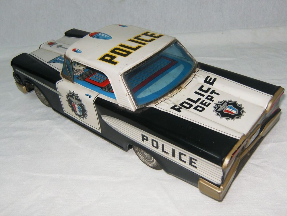 VINTAGE HIGHWAY PATROL CAR BATTERY OPERATED CRAGSTAN S&E ...
