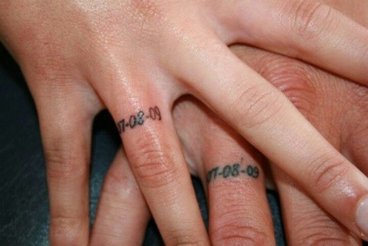 Wedding date tattoo bands. I love this! | Ink | Pinterest | Tattoo ...