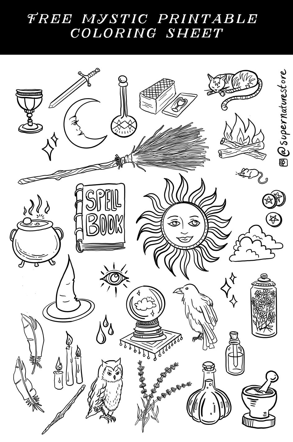Photo of Mystic Coloring Sheet Page Printable download