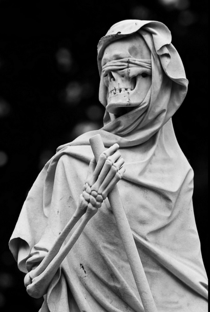 sixpenceee: The grim reaper statue located at the English ...