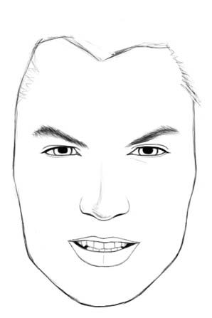 How To Draw Faces Male Face Drawing Realistic Drawings Guy Drawing