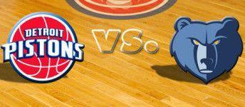 Memphis Grizzlies vs. Detroit Pistons - 1/14/16