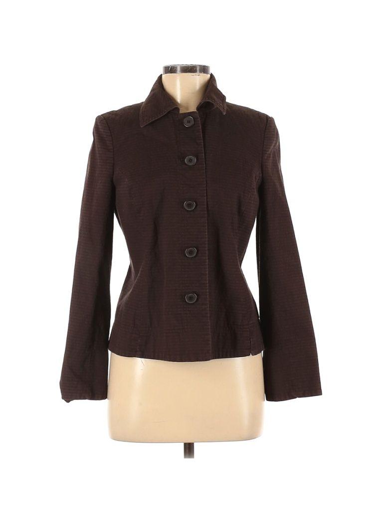 Studio By Liz Claiborne Jacket Brown Solid Jackets Outerwear Size 8 In 2021 Jackets Outerwear Jackets Outerwear [ 1024 x 768 Pixel ]