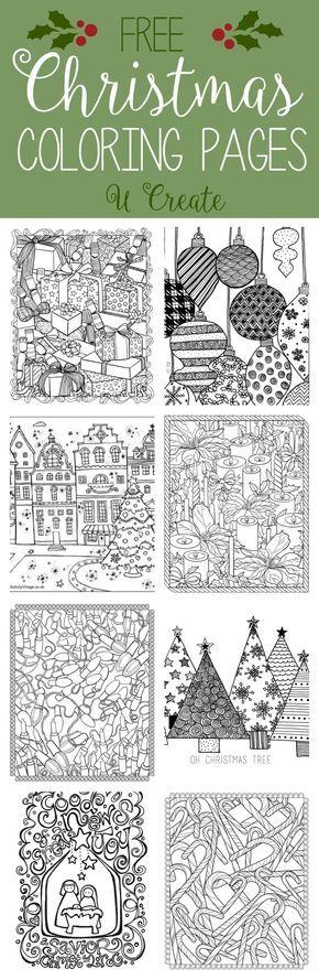 Free Christmas Adult Coloring Pages | Pinterest | De la navidad ...