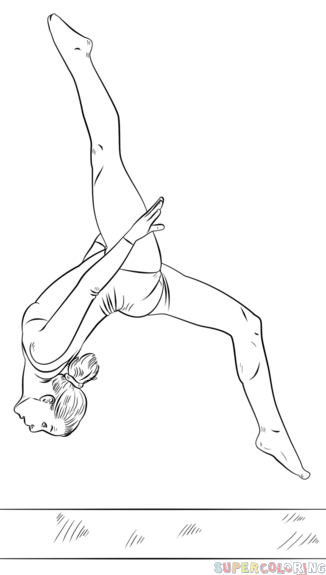 How To Draw A Gymnast On A Beam Step By Step Drawing Tutorials For Kids And Beginners Dancing Drawings Ballet Drawings Drawing Tutorials For Beginners