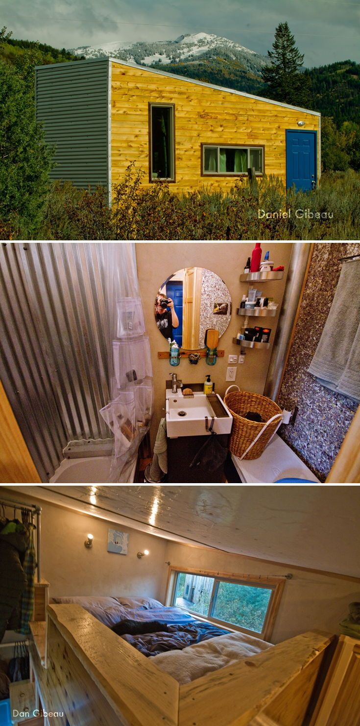 The Lucky House Is A 200 Square Foot Tiny House Built By Daniel Gibeau Using Sustainable Building Tiny House Community Tiny House Inspiration Tiny House Cabin