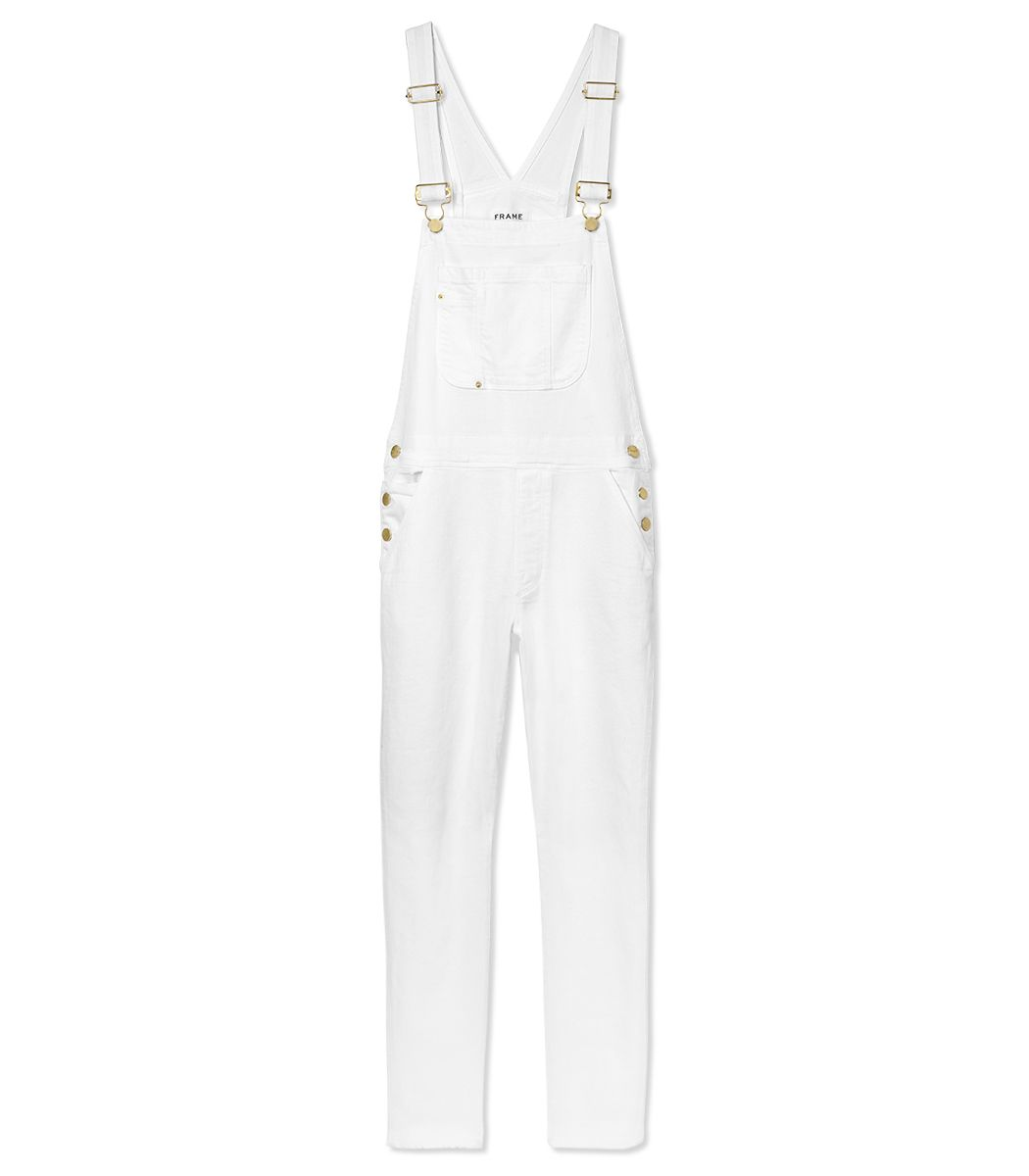 Frame Denim White Overall - Shop more ways to wear a crop top this summer: http://www.harpersbazaar.com/fashion/fashion-articles/how-to-wear-a-crop-top