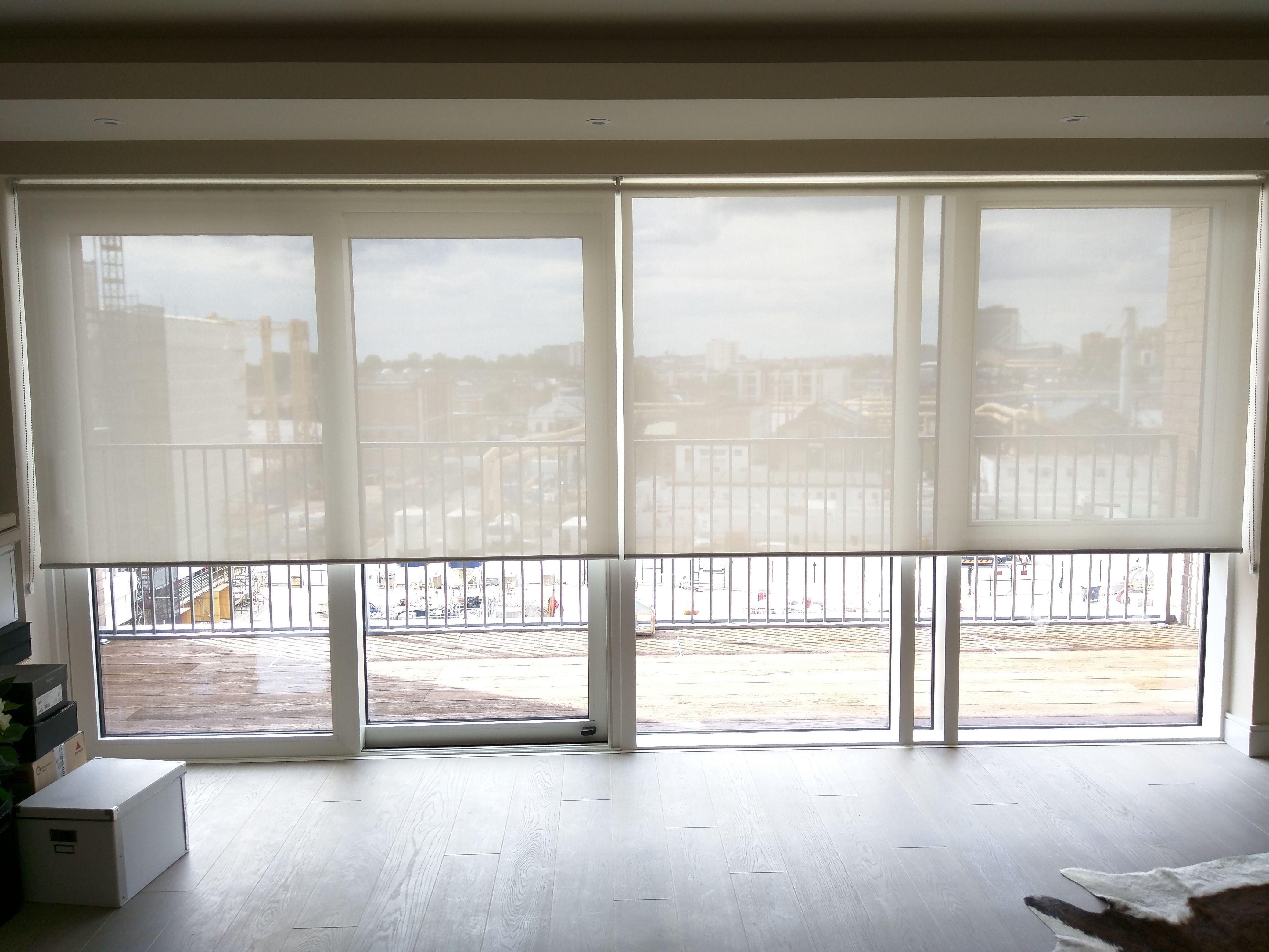Sunscreen Roller Blinds Floor To Ceiling Windows Sliding Doors Lond Sliding Glass Door Window Sliding Doors Interior Sliding Glass Door Window Treatments