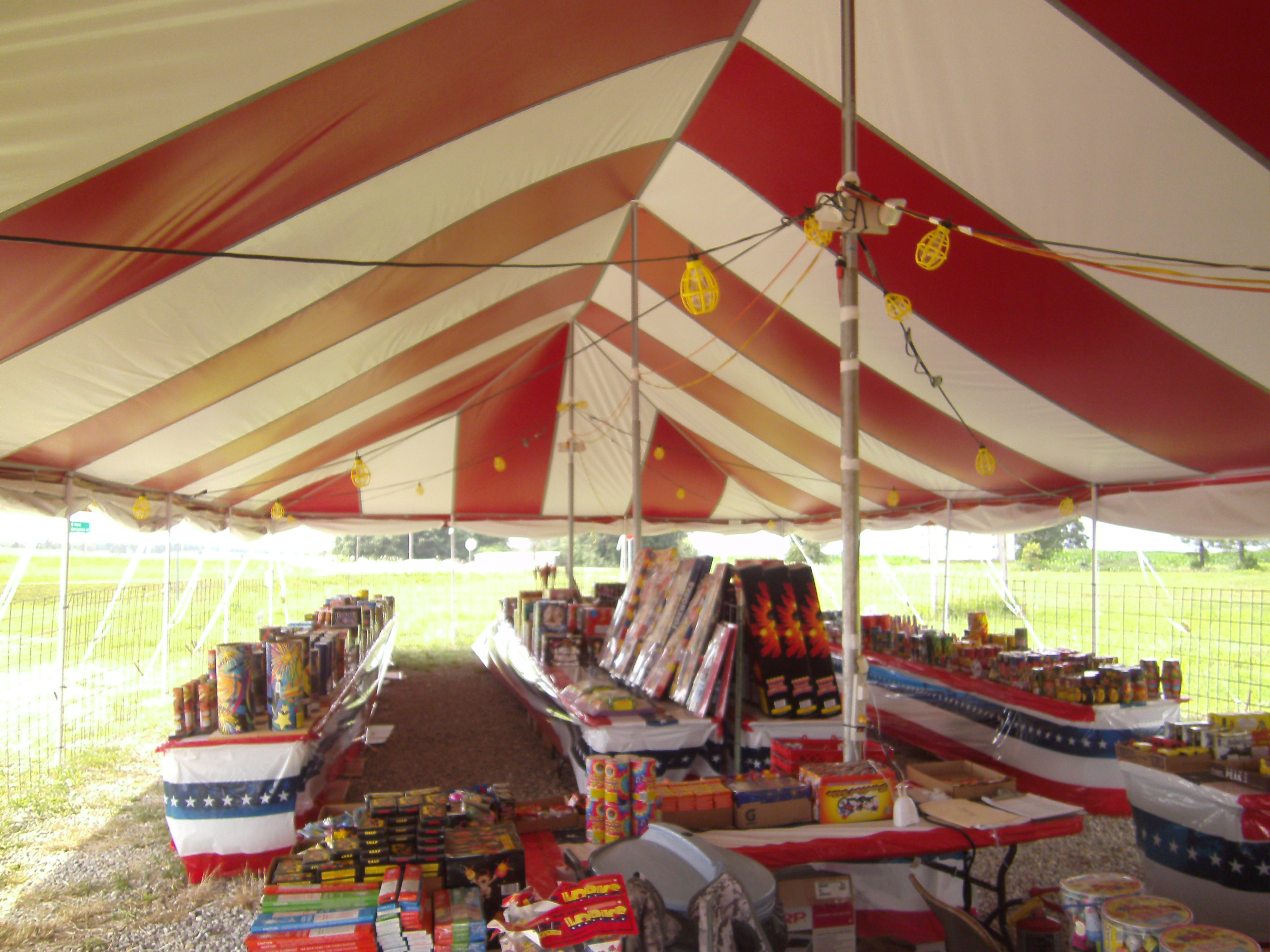 Used Party Tents For Sale >> 30 X 60 Pole Tent Used For Fireworks Tents For Fireworks And
