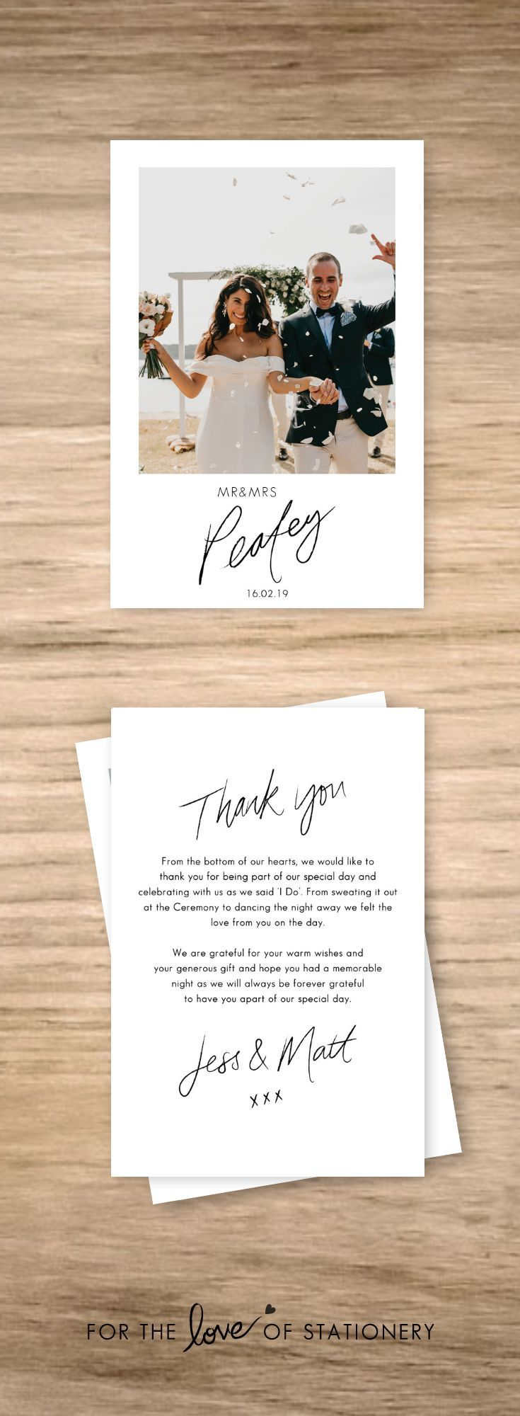 Personalised Wedding Thank You Cards With Photos Wedding Thank You Messages Wedding Thank You Postcards Wedding Thank You Cards