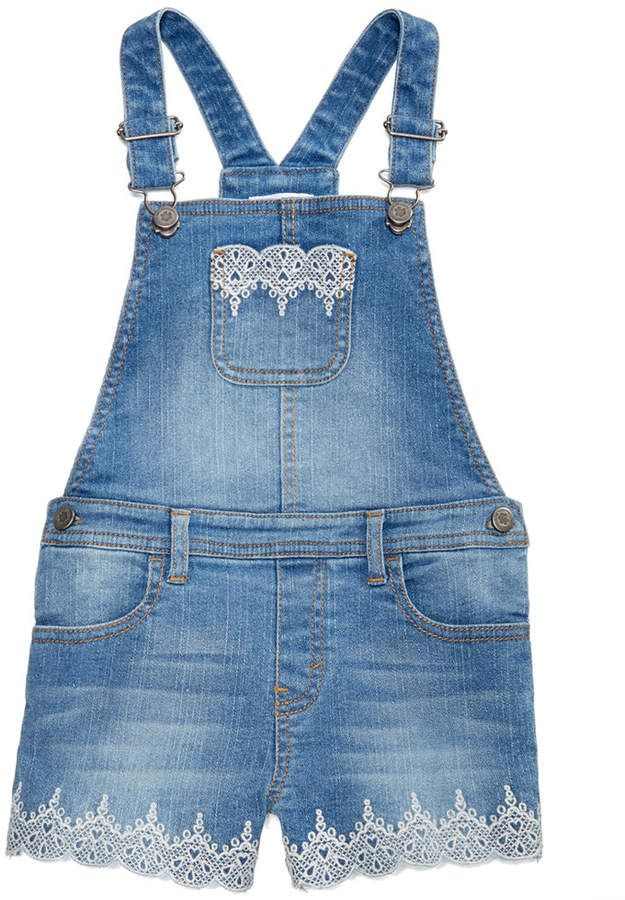 f0c224276 Epic Threads Toddler Girls Embroidered Denim Overalls, Created for Macy's