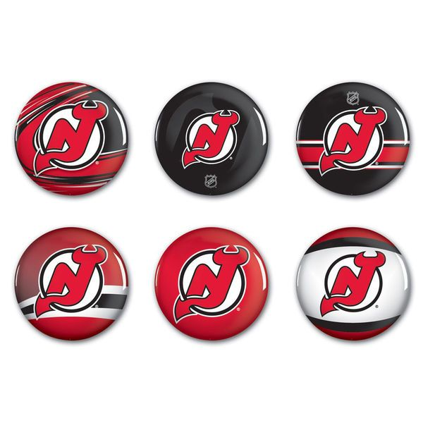 New Jersey Devils WinCraft 6-Pack Button Set - $6.99