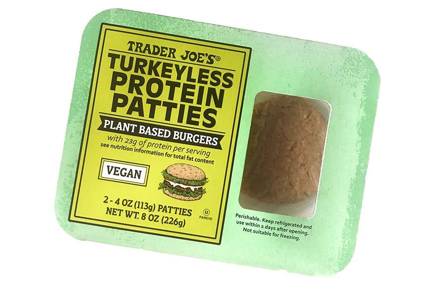 This New Trader Joe S Vegan Turkey Burger Really Spices Things Up In 2020 Turkey Burger Recipes Vegan Turkey Turkey Burger