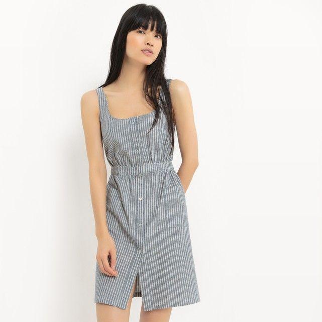 Imagen de Vestido tipo bata de algodón y lino R édition  db401308c2f0