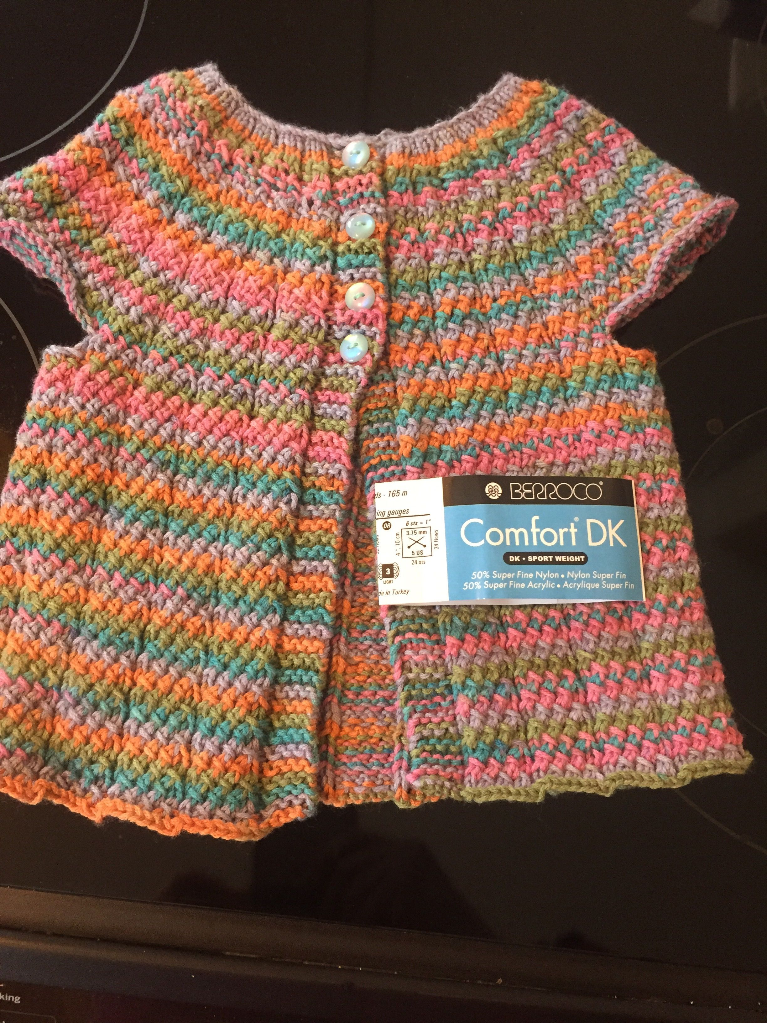 """Violet vest"" pattern from 60 Quick Knit Baby Essentials ..."