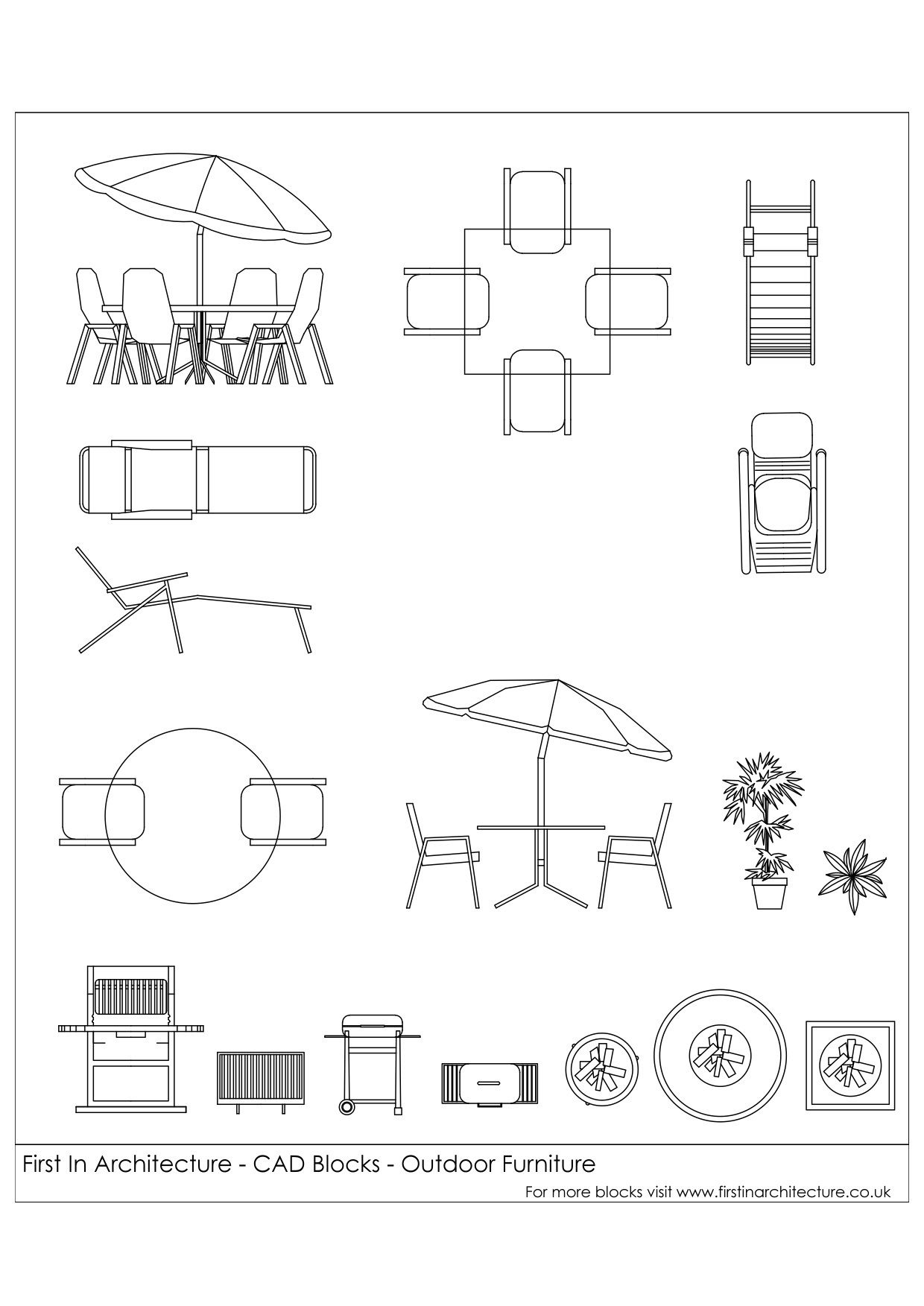 Free Cad Blocks Outdoor Furniture 02 Pinterest Representa O