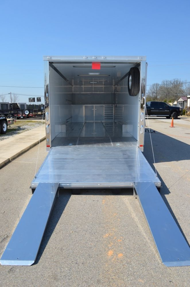 28\' All-Aluminum Motorsports Race Car Trailer with 50 amp electrical ...