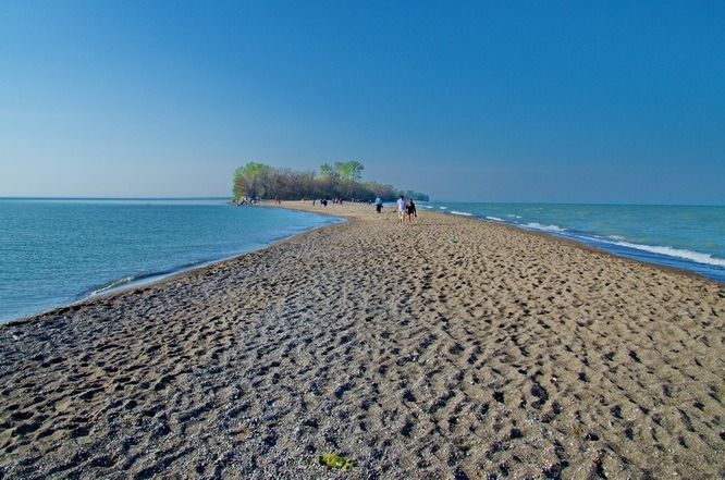 Beach Walking Is Part Of The Fun In Point Pelee National Park